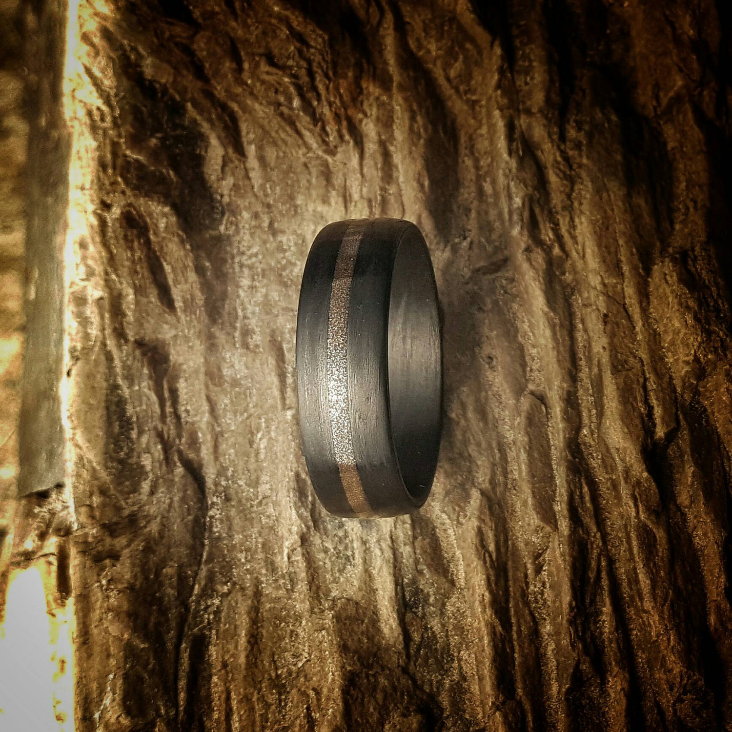 Bronze Age, 7mm wide, Carbon Fiber Ring.