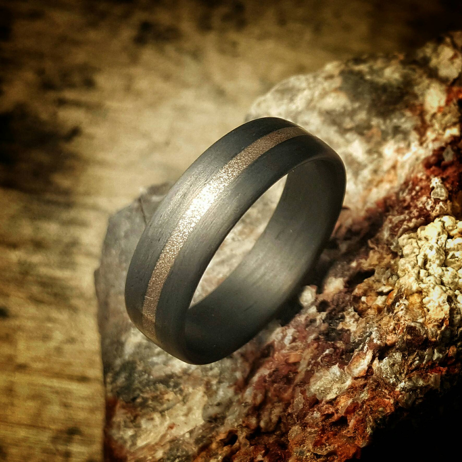 custom made carbon fiber wedding ring