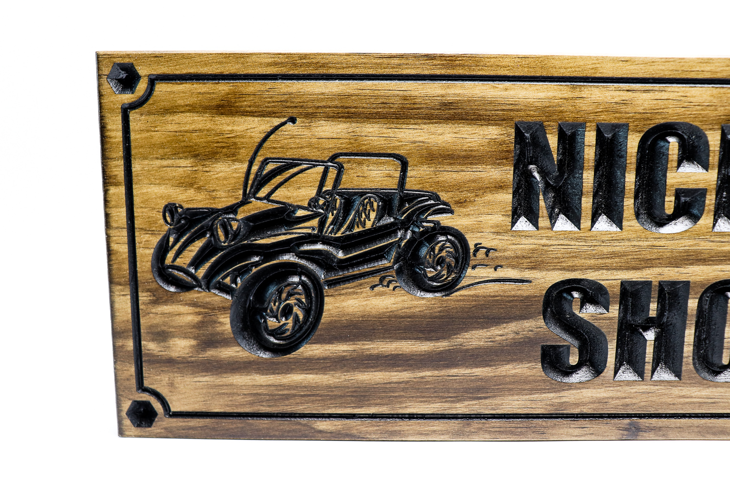 dune buggy wooden sign