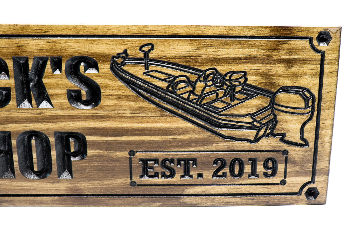 Bass boat and Dune buggy shop sign