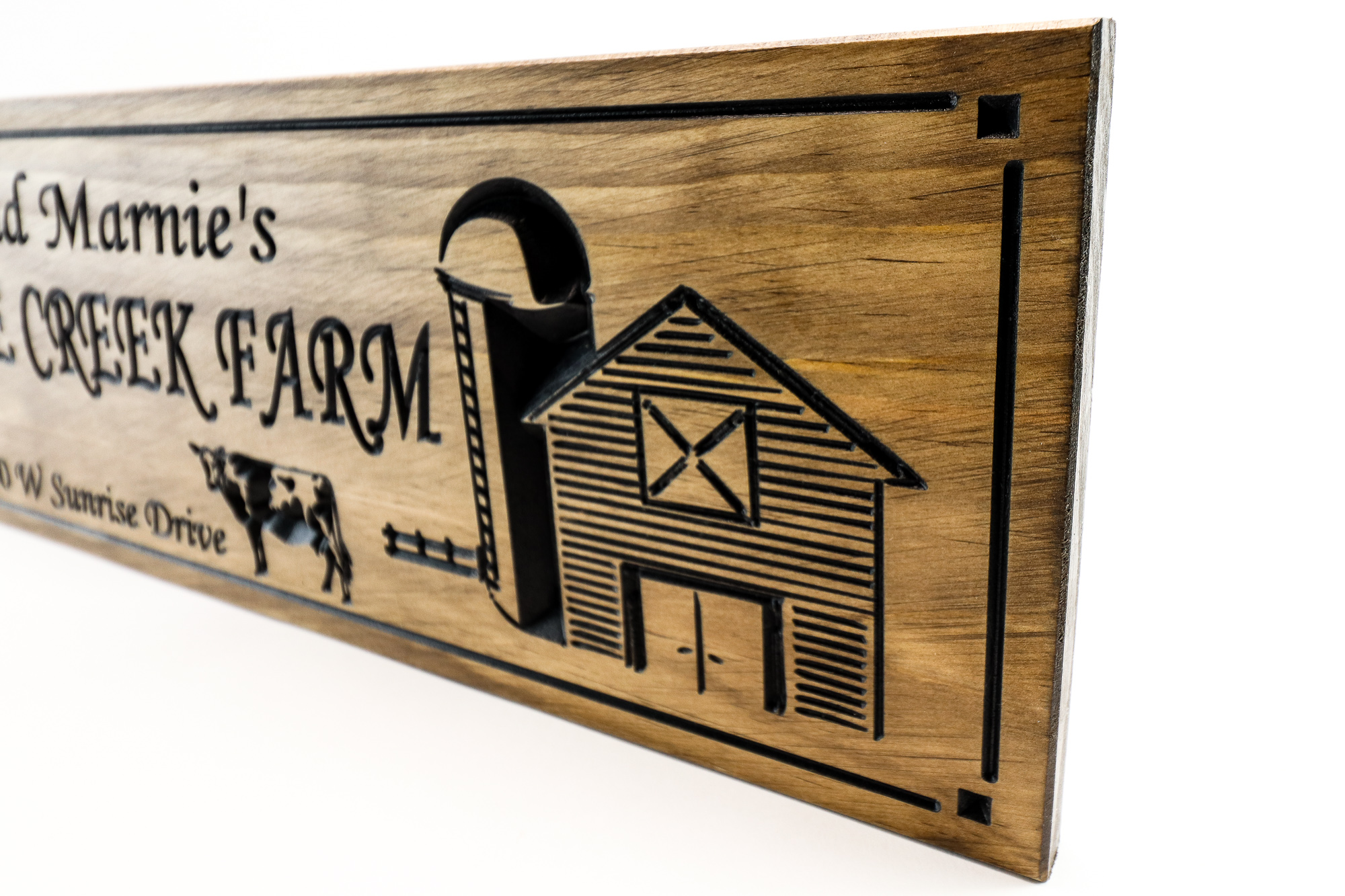 Farm Sign farm signs personalized farmhouse decor farmhouse decor sign with barn and chicken and cow. farm animal wooden sign